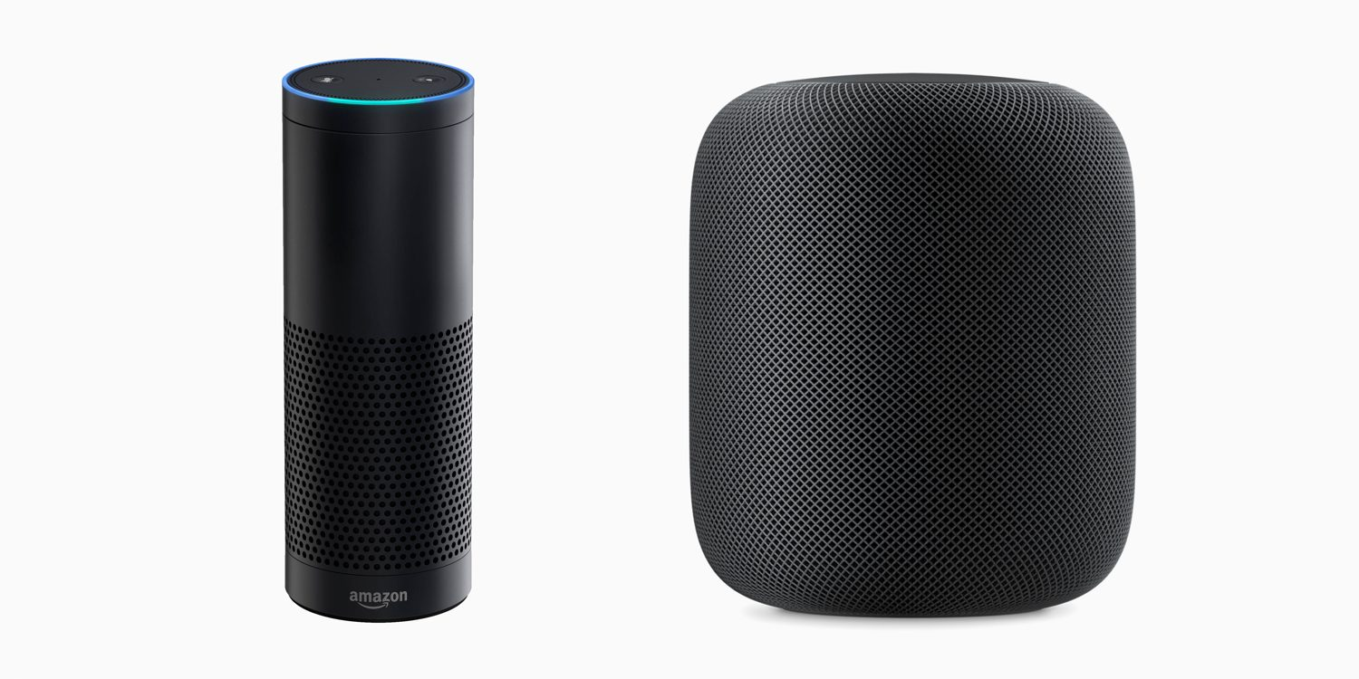 Amazon Echo and Homepod